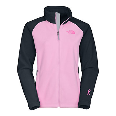 The North Face Pink Ribbon Khumbu Fleece Womens Jacket, , viewer