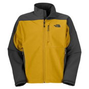 The North Face Apex Bionic Mens Soft Shell Ski Jacket, Leopard Yellow-Asphalt Grey, medium