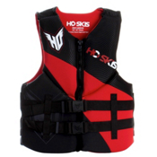 HO Sports Pursuit Neoprene Adult Life Jacket 2013, Black-Red, medium