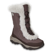 The North Face Nuptse Fur II Girls Boots, Demitasse Brown-Moonlight Ivor, medium