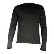 Hot Chillys Pepper Skins Thermal Mens Long Underwear Top, Black, medium
