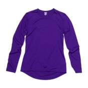 Hot Chillys PepperSkins Crewneck Womens Long Underwear Top, Blue Berry, medium