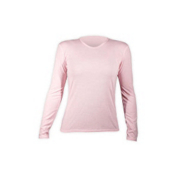 Hot Chillys PepperSkins Crewneck Womens Long Underwear Top, Pink, medium