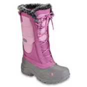 The North Face Shellista Lace Girls Boots, Begonia Pink-Q Silver Grey, medium
