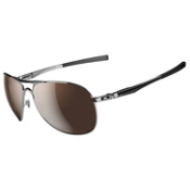 Oakley Plaintiff Polarized Sunglasses, Polished Chrome, medium