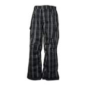 Obermeyer Pike P Kids Ski Pants, Black Plaid, medium