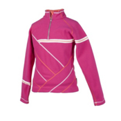 Obermeyer Aliyah Girls Fleece Kids Midlayer, Fuchsia, medium