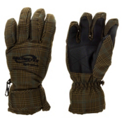 Obermeyer Alpine Girls Gloves, Mineral Micro Plaid, medium