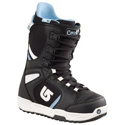 Burton Coco Womens Snowboard Boots, Black-White, medium
