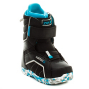 Burton Zipline Kids Snowboard Boots, Black-Gray-Blue, medium