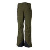 Obermeyer Saranac Mens Ski Pants, Mineral Micro Plaid, medium