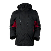 Obermeyer Teton Mens Insulated Ski Jacket, Black, medium
