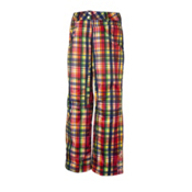 Obermeyer Malta Womens Ski Pants, Madras Plaid, medium