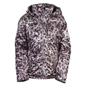 Obermeyer Leighton Womens Insulated Ski Jacket, Anthracite Cheetah Print, medium