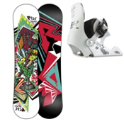 Ride Lowride Micro Boys Snowboard Package 2013, , medium