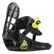 K2 Mini Turbo Kids Snowboard Bindings 2013, Black, medium