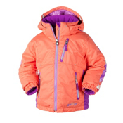 Obermeyer Nirvana Toddler Girls Ski Jacket, Creamsicle, medium