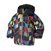 Obermeyer Slalom Toddler Ski Jacket, Block Print, medium