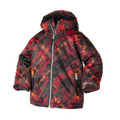 Obermeyer Slalom Toddler Ski Jacket, Red Schematic Print, medium