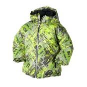 Obermeyer Slalom Toddler Ski Jacket, Go Cart Schematic Print, medium