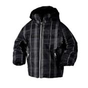 Obermeyer Slalom Toddler Ski Jacket, Black Plaid, medium