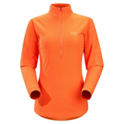Arc'teryx Delta LT Zip Fleece Womens Mid Layer, Tiger Lily, medium