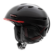 Smith Transport Helmet, Black-Red, medium