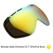 Electric EG2 Goggle Replacement Lens 2014, Bronze-Gold Chrome, medium