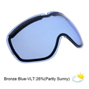 Electric EG2 Goggle Replacement Lens 2013, Bronze-Blue Chrome, medium