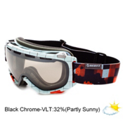 Scott Fix Goggles, Plaid Blue-Nl 32 Black Chrome, medium