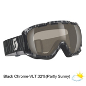 Scott Fix Goggles, Black-Nl 32 Black Chrome, medium