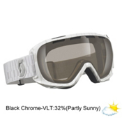 Scott Fix Goggles, White-Nl 32 Black Chrome, medium
