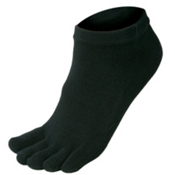 Injinji Performance Series Liner Micro Socks, Black, medium