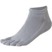 Injinji Performance Series Liner Micro Socks, Grey, medium