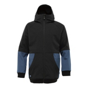 Burton Exeter Mens Snowboard Softshell Jacket Mens Soft Shell Jacket, True Black, medium