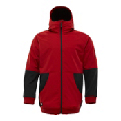 Burton Exeter Mens Snowboard Softshell Jacket Mens Soft Shell Jacket, Cardinal, medium
