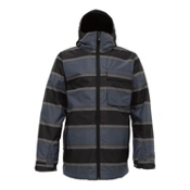 Burton Revolver System Mens Insulated Snowboard Jacket, Blue 23 Panhandle Print, medium