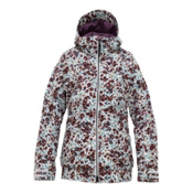 Burton TWC Hot Tottie Womens Insulated Snowboard Jacket, Bright White Floral Melt Print, medium