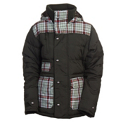 Burton Dandridge Down Womens Insulated Snowboard Jacket, Resin Groupie Plaid, medium