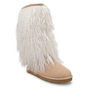 UGG Australia Tall Sheepskin Cuff Womens Boots, Sand-Natural, medium