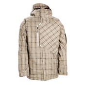 686 Smarty Counter 3-In-1 Mens Insulated Snowboard Jacket, Taupe Plaid, medium