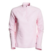 Hot Chillys La Montana Zip-T Panel Womens Long Underwear Top, Pink, medium
