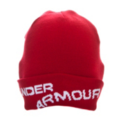 Under Armour Ski Hat, University Red-White, medium