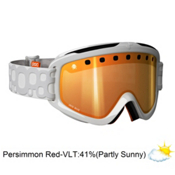 POC Iris Bug Medium Goggles 2013, White-Persimon Red Mirror, medium