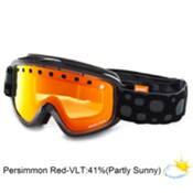 POC Iris Bug Medium Goggles 2013, Black-Persimon Red Mirror, medium