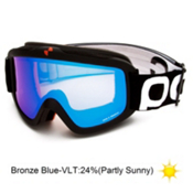 POC Iris X Medium Goggles 2013, Black-Bronze Blue Mirror, medium