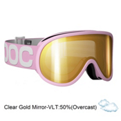 POC Retina WO Womens Goggles 2013, Pink-Clear Gold Mirror, medium