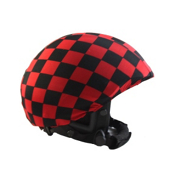 Active Helmets Cracked Helmet Cover, Black-Red, medium