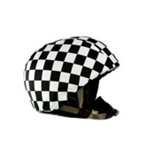 Active Helmets Cracked Helmet Cover, Black-White, medium