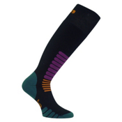 Euro Sock Zone Medium Weight Ski Socks, Black, medium